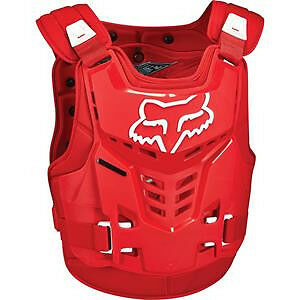 2017 Fox Racing Proframe LC Chest Protector RED Youth Kids Roost Guard One Size