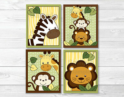 Safari Jungle Animal Nursery Wall Art Printable