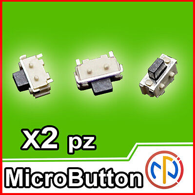 2X Micro pulsante SMD 2x4x3.5 Push Button NA ricambio tablet,cellulari,actioncam