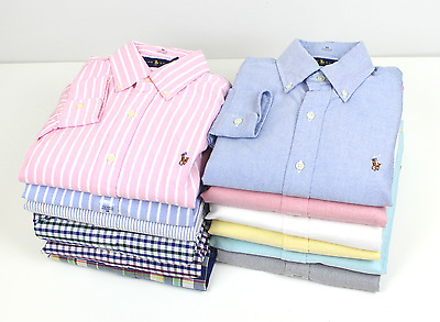 New Polo Ralph Lauren Men Oxford Shirt Standard Fit & Slim Long Sleve Dres Plaid