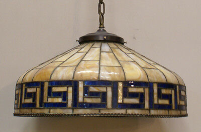 Leaded dome fixture arts and crafts