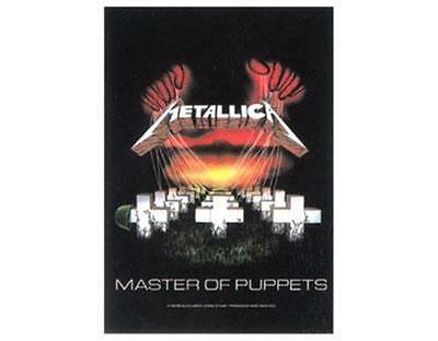 Official Licensed - Metallica - Master Of Puppets Textile Poster Flag Metal