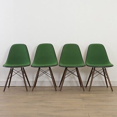 4 x (Set) Herman Miller Vintage Original Eames Green Side Chair On DSW Base