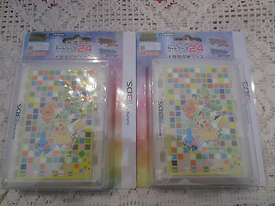 Lot 2 HORI Pokemon Card Case 24 for 3DS (Cute) for Nintendo 3DS