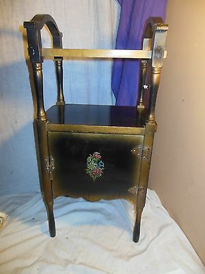 Vintage Antique Smoke Stand Floyd Valley Sioux Furniture Pipe Cigar Table Wood