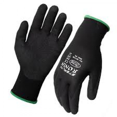 Black Stealth Ronin Industrial/Workshop Gloves - Available Sizes: S, M, L, XL