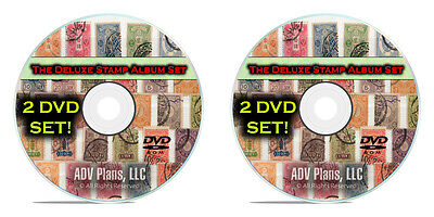 33,000 Printable Stamp Album Pages, Over 375+ Countries, Full Color, 2 DVD's F08