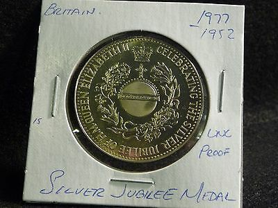 Uk (Great Britain):  1977  Silver Jubilee Medal  Coin  Proof (Unc.)  (#1)