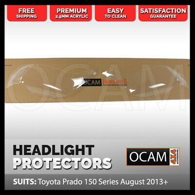 OCAM Headlight Headlamp Protectors for Toyota Prado 150 Series August 2013-2017