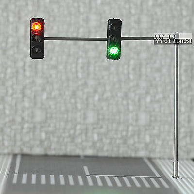 3 x HO / OO Traffic Light Signal LED Model Train Architecture crossing Street #4