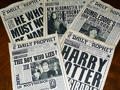 11X17inch Harry Potter the Boy who Lies 5 aged pages The Daily Prophet Newspaper