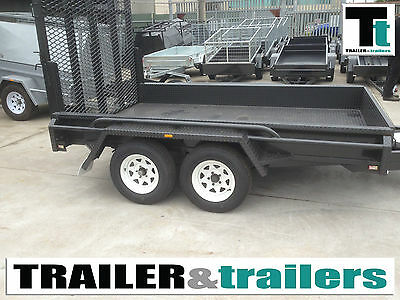 10x6 Plant Trailer *NEW TYRES* Heavy Duty Tandem Platform Rampx -  Aust Made