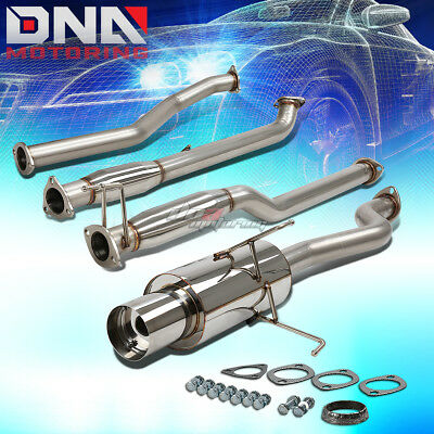 """For 01-05 Honda Civic Dx/lx Em/es 4""""tip Stainless Steel Exhaust Catback System"""