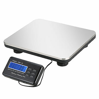 660LBS LCD Postal AC Platform Digital Scale Shipping Floor Bench 300KG Weigh