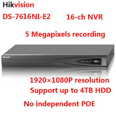 Hikvision DS-7616NI-E2 5MP 16ch Network Video Recorder NVR 2SATA support 4TB HDD