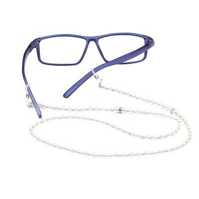 Pearl Beads Beaded Reading Eyeglass Spectacles Neck Chain Holder Cord Strap