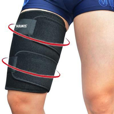 Thigh Leg Hamstring Brace Support Wrap Sleeve Protector Bandage Pain Relief
