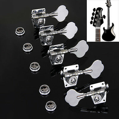 1L+4R Guitar Tuners Tuning Peg Machine Heads Set For 5 string Jazz P Bass