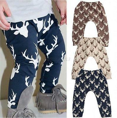 Baby Kids Boys Girls Printed Clothes Elastic Harem Pants Toddler Trousers