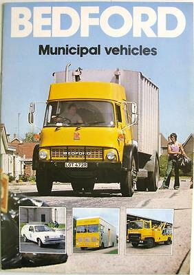 BEDFORD Municipal Vehicles - Commercials Sales Brochure - 1978 - B/BX1846/2/78