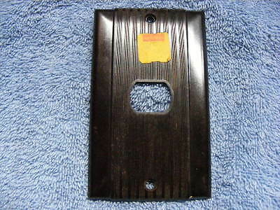 UNUSED vintage bakelite Uniline switch / outlet plate- Despard style opening