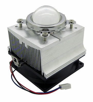20-100W LED Aluminium Heat Sink Cooling Fan+44mm Lens kits 60/90/120 degree