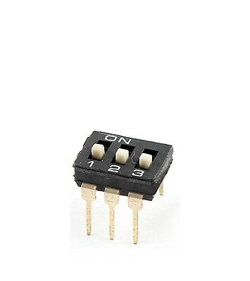 5 Pcs NEW  2.54mm Pitch 3 Position Slide Type DIP Switches