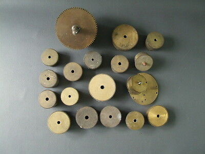 Job lot of vintage brass clock barrels mostly empty - spares repairs steampunk