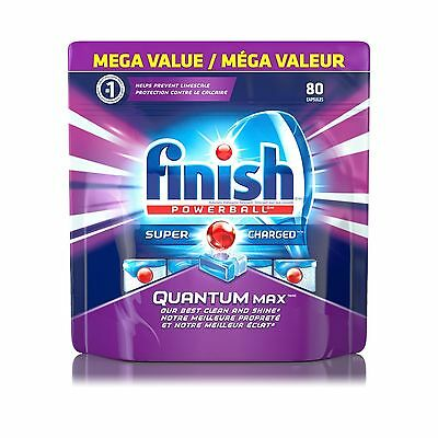 Finish Dishwasher Detergent Quantum Max Shine and Glass Protect Action 80 Tab...