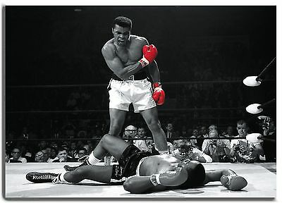 Muhammad Ali Boxing Red Gloves CANVAS Box Art Print  - A0 A1 A2 A3 A4 Sizes
