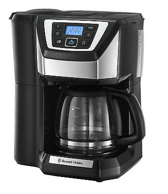 Russell Hobbs 22000 Grind And Brew Coffee Maker, Machine, Black / Silver (N)