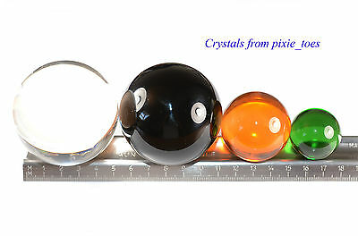 Glass Crystal Ball Sphere Choose Size, Colour - Scrying, Feng Shui, Photography