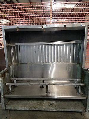 Superstructure Equipment Base w/ Updraft Exhaust Hood Ventilation and Undershelf