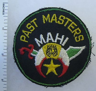 MASONIC SHRINER MAHI TEMPLE PAST MASTERS Vintage PATCH