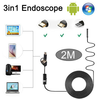 3 in 1 Semi Rigid HD Type C endoscope USB Inspection Camera For Android Samsung