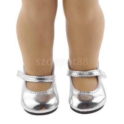 """Dolls Silver Shoes for 18"""" American Girl AG Our Generation Party Accessory"""