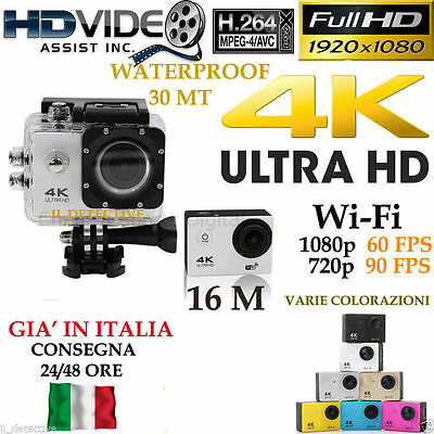 Pro Sport Action DV Camera 4K Full HD 1080P Videocamera WiFi Impermeabile