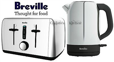 Breville Outline Kettle and Toaster Set Stainless Steel Kettle & 4 Slot Toaster