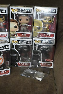 """100 Count FUNKO POP .40mm Thickness Box Protectors 4"""" Crystal Clear Acid-Free"""