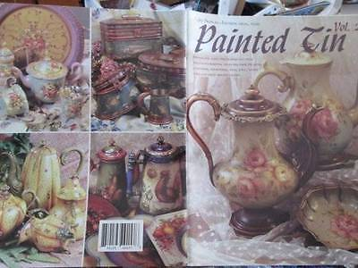 Painted Tin Painting Book #2-Jo Sonja Jensen Signed 1st Day Issue-Roosters/Flowe