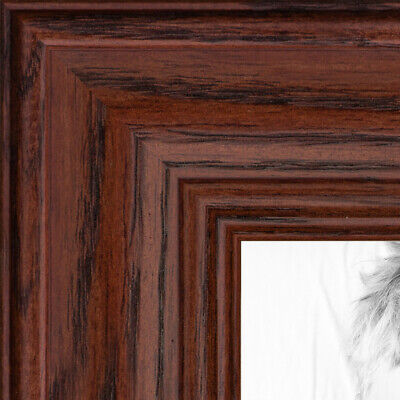 """ArtToFrames Picture Frame Custom 1.25/"""" Brown Walnut Stain on Oak Wood 4086 Small"""