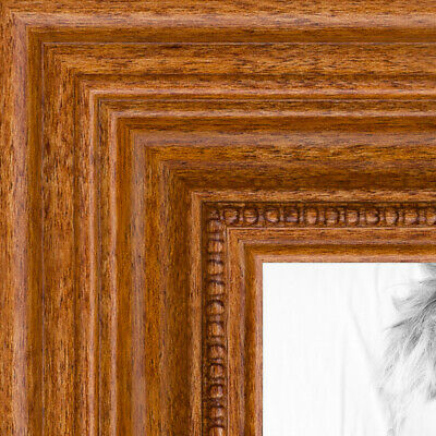 """ArtToFrames Picture Frame Custom 1.25"""" Brown Honey stain Wood 4097 Small"""