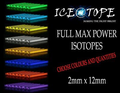 ICEATOPE 2MM X 12MM ISOTOPE ISOTOPES carp TRIGALIGHT GTLS VIAL BETALIGHTS