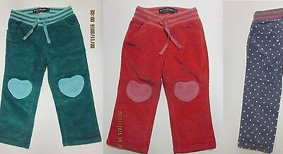 Girls MINI BODEN trousers corduroy baby age 2 3 4 5 6 7 8  years heart patch NEW