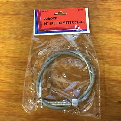 "Vintage NOS Bicycle Speedometer Inner Drive Cable 1//8/"" x 34/"" Overall Length"