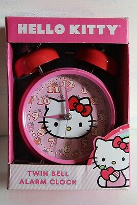 Hello Kitty Twin Bell Alarm Clock New In Box Vintage Reproduction By Sanrio 2011