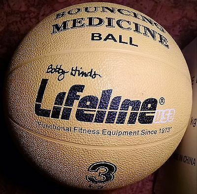 LIFELINE 3 kg (6 .6 lb) bouncing Medicine Ball rubber weighted EXC+ with box