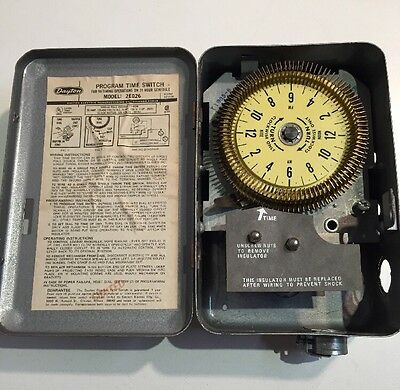 Dayton 2E026 Form 5S1130 24 Hour Dial Time Switch