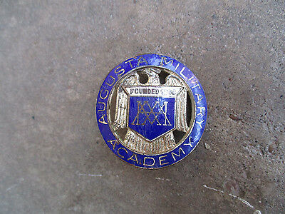 vintage WWII Augusta Military Academy Hat Cap Badge pin