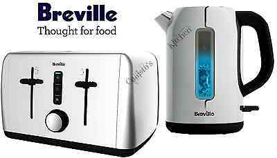 Kettle and Toaster Set Breville Outline Stainless Steel Kettle & 4 Slot Toaster